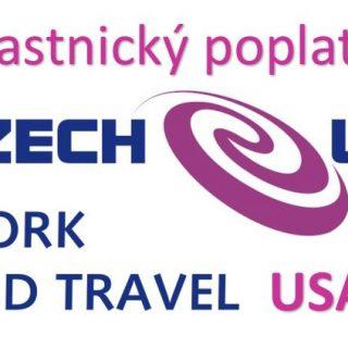 Účastnický poplatek Czech-us Work and Travel USA – 2019